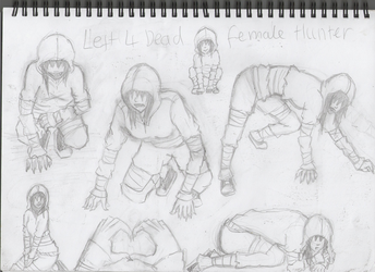 Left 4 dead 2 - Female Hunter by LoudMouth321