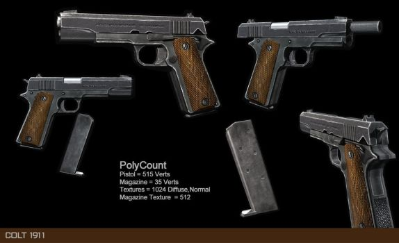 Low poly Colt 1911 by bryansvt92