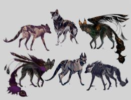 Maned Wolfpack Adopts13 (closed) by Furrirama