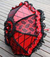 Red and Black Parasol Laced by dbvictoria