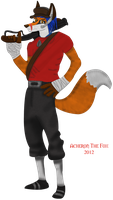 Team Furtress - RED Scout by AcheronTheFox