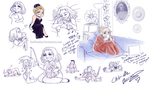 Chibi-Me Sketch Dump by RedPassion