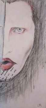 Manson Squetch Drawing by Sully-the-Sullivan