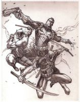Marvel Knights (pencils) by emmshin