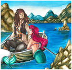 The Captain and The Siren by Following-The-Rabbit