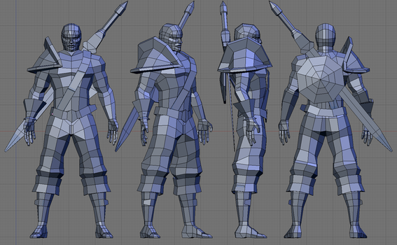 Low poly warrior wip 1 by sdellapina