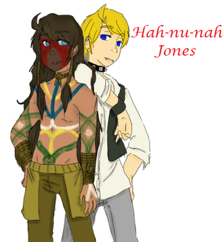 Hah-nu-nah Jones Before and After by Ask-AmericanUke