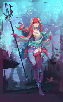 Mipha, zora princess by Sparkly-Monster