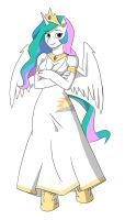Anthro Celestia by thecreator9