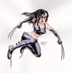 Small fry X-23 BAMF by quotidia