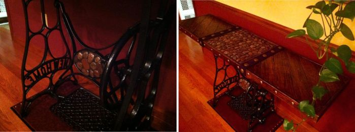 Repurposed Antique Sewing Stand to Table Part 4 by MauruCat