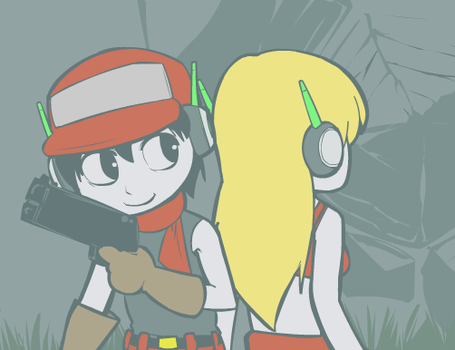 Cavestory Pair by 3-Angled-Blue