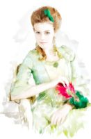 Lady In Green by ditney