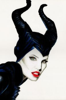 Angelina Jolie as Maleficent (Disney) by Fabielove
