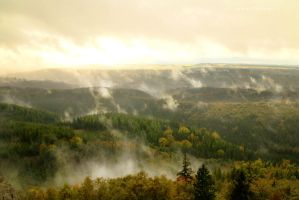 Mist over Woody Hills by ondrejZapletal