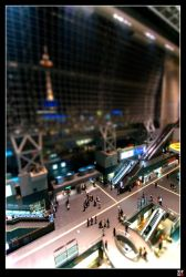 Tilted Kyoto Station by tensai-riot