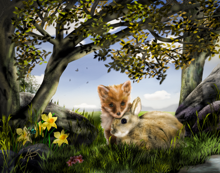 The Fox and the Rabbit - a children's story by vanndra