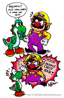 Wario: Getting it off your chest by NatSilva