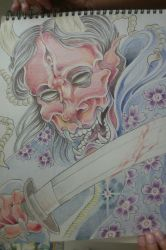 unfinished Hannya Warrior by Happytreefriends7I