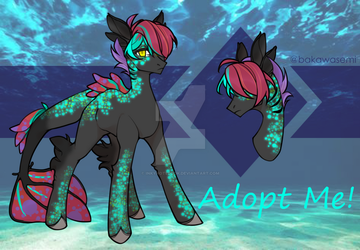 [CLOSED] Ocean Pony Adopt by InkyNotebook