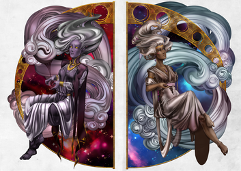 Allura and Haggar. Diptych. by GaalaGaalko