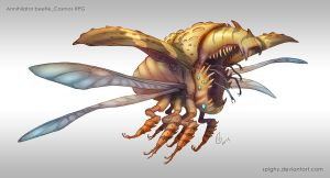 Commission_Annihilator beetle by Spighy
