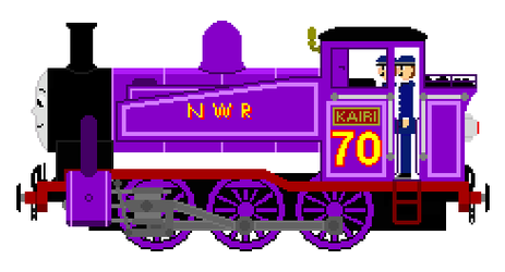 Kairi the New Purple Tank Engine by JamesFan1991