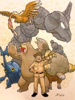 President Theodore Roosevelt and his pokemon team