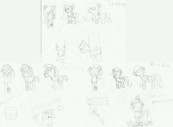 Ib Ponies Sketches by Shiningbrightpony
