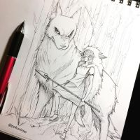 16. Princess Mononoke by PokuriMio