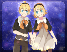 Happy Birthday to Rin and Len! by yui-22