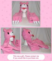 Gloomy Bear Hat Scarf by cutekick