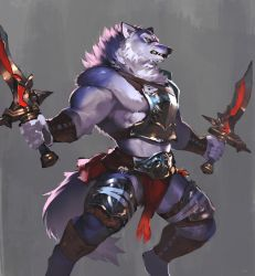 Twin sword Wolf by koutanagamori