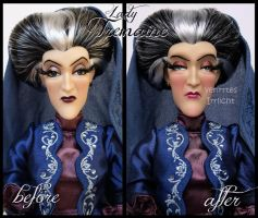 repainted ooak designer lady tremaine doll. by verirrtesIrrlicht
