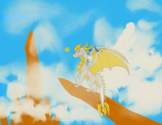 Silverwind nearby the edge by Draconet