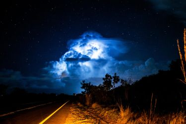 Trapped Lightning Storm by derencio