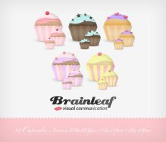 Cupcake Icons by Ransie3