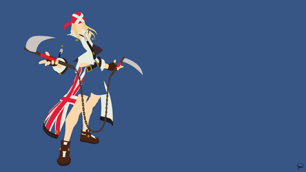 Axl Low (Guilty Gear Xrd) Minimalism by greenmapple17