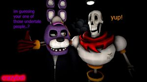bonnie and papyrus by crazybot1231