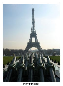 attacking the eiffel tower by trumpfass