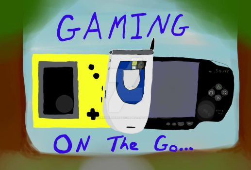 Gaming On The Go Title Image by DareSmithCreations
