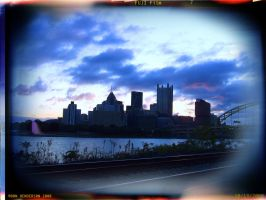 Pittsburgh Holga by yankeedog