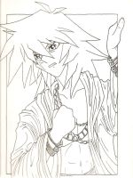 Thief King Bakura -Uncolored- by IcefireenFriends