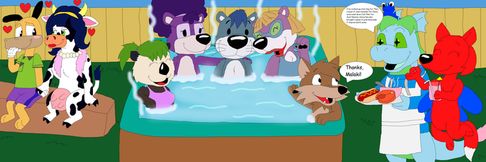 Toons in a Hot Tub by JustinandDennis