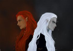 Fiery and ice Ifrits by Sawaof
