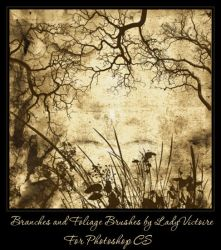 Branches and Foliage Brushes by LadyVictoire-Brushes