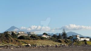 New Plymouth Beach view by Deceptico
