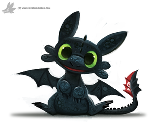 Toothless Chibi by Cryptid-Creations