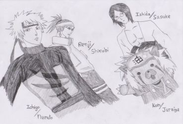 Bleach Naruto Crossover by Sharky96