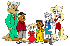 Commission - Marty, Minerva and Family by RetroUniverseArt
